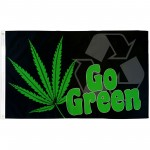 Go Green Marijuana 3' x 5' Polyester Flag