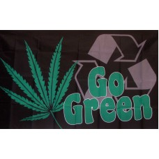 Go Green Marijuana Premium 3'x 5' Flag