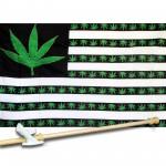 Marijuana USA 3' x 5' Polyester Flag, Pole and Mount