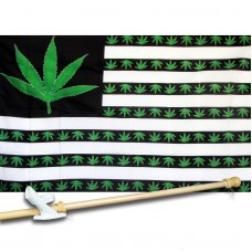 Marijuana USA 3' x 5' Polyester Flag, Pole and Mount