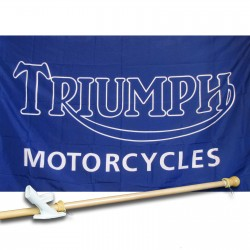 Triumph Motorcycles 3' x 5' Flag, Pole And Mount