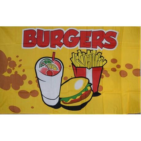 Burgers 3'x 5' Advertising Flag