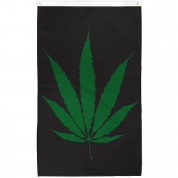Marijuana Leaf Vertical 3' x 5' Polyester Flag