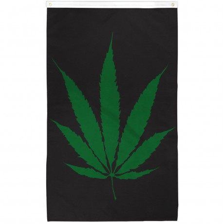 Marijuana Leaf Vertical 3' x 5' Polyester Flag