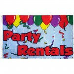 Party Rentals 3' x 5' Polyester Flag