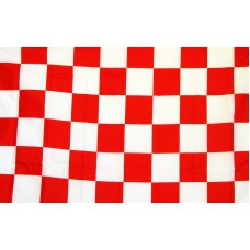 Checkered Red & White 3'x 5' Flag