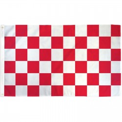 Checkered Red & White 3' x 5' Polyester Flag