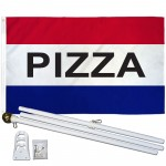 Pizza Patriotic 3' x 5' Polyester Flag, Pole and Mount