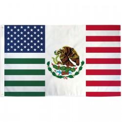 USA Mexico Friendship 3' x 5' Polyester Flag