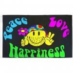 Peace Love Happiness 3'x 5' Flag