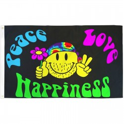 Peace Love Happiness 3'x 5' Flag
