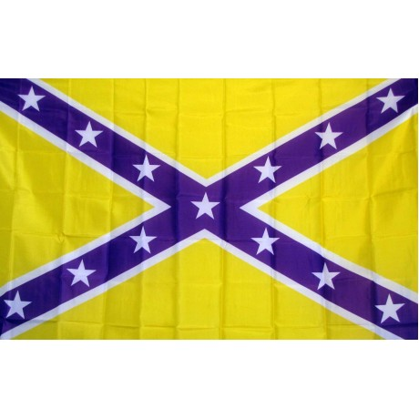 Purple Gold Battle 3' x 5' Polyester Flag