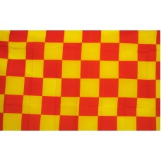 Checkered Red & Yellow 3'x 5' Flag
