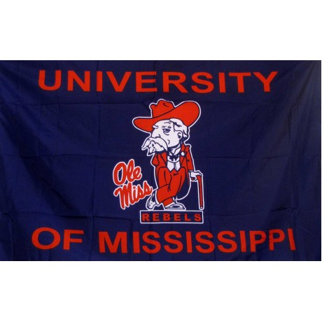 Mississippi Ole Miss Gentleman 3'x 5' College Flag