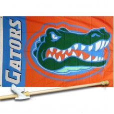 FLorida Gators 3'x 5' Polyester Flag, Pole And Mount.