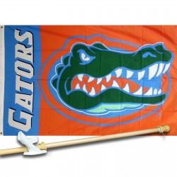 FLorida Gators 3'x 5' Polyester Flag, Pole And Mount.
