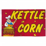 Kettle Corn 3'x 5' Advertising Flag