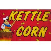 Kettle Corn 3'x 5' Advertising Flag
