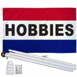 Hobbies Patriotic 3' x 5' Polyester Flag, Pole and Mount