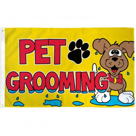 Pet Grooming 3' x 5' Polyetser Flag