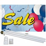 Sale Balloons 3' x 5' Polyester Flag, Pole and Mount