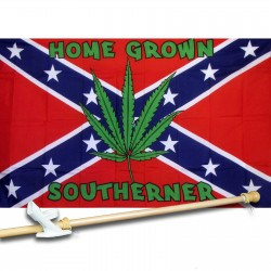 Home Grown Southerner 3' x 5' Polyester Flag, Pole and Mount