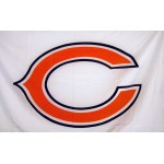 Chicago Bears White 3' x 5' Polyester Flag