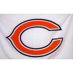 Chicago Bears White 3' x 5' Polyester Flag