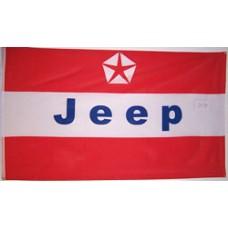 Jeep Red 3' x 5' Automotive Logo Flag