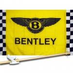 BENTLEY CHECKERED 3' x 5'  Flag, Pole And Mount.