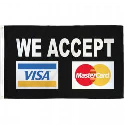 VISA Mastercard Black 3'x 5' Business Flag