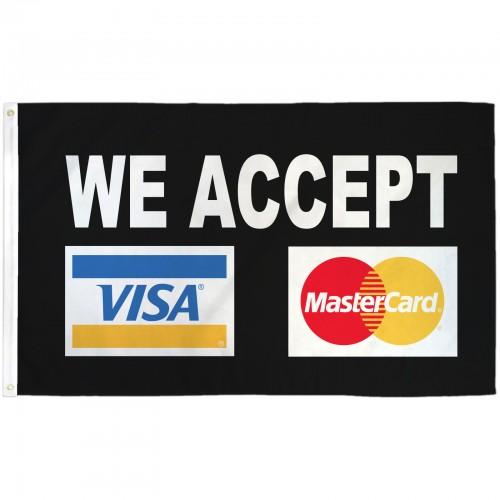 Visa Mastercard Black 3 X 5 Business Flag F 1525 By