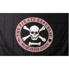 Pirate Republic Pink Circle 3'x 5' Flag