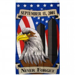 Never Forget 911 Eagle 3'x 5' Flag