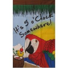 5 O'Clock Somewhere 2'x 3' Banner