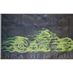 Hell of a Ride 3'x 5' Flag