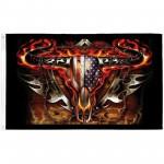 Flaming Bull Skull 3'x 5' Flag