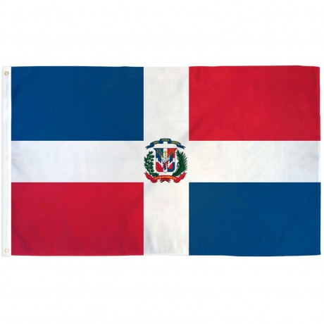 Dominican Republic 3' x 5' Polyester Flag