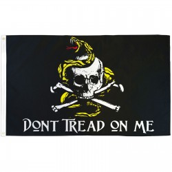 Don't Tread On Me Skull & Crossbones 3'x 5' Flag