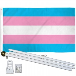 Transgender Pride 3' x 5' Polyester Flag, Pole and Mount