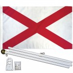 Alabama State 2' x 3' Polyester Flag, Pole and Mount