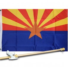 ARIZONA STATE 2' X 3'  Flag, Pole And Mount.