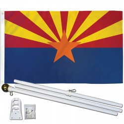 Arizona State 2' x 3' Polyester Flag, Pole and Mount