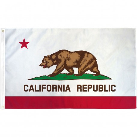 California 2'x3' State Flag