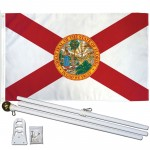 Florida 2'x3' polyester State Flag, Pole And Mount.
