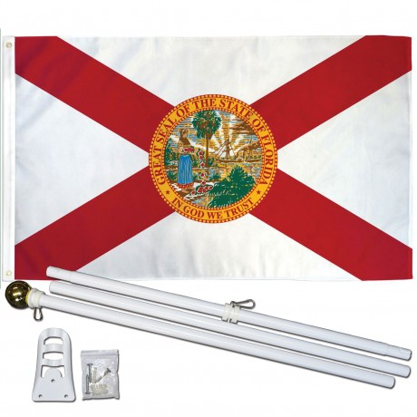 Florida State 2' x 3' Polyester Flag, Pole and Mount