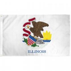 Illinois State 2' x 3' Polyester Flag