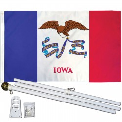 Iowa State 2' x 3' Polyester Flag, Pole and Mount