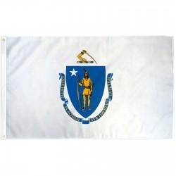 Massachusetts State 2' x 3' Polyester Flag