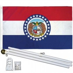 Missouri State 2' x 3' Polyester Flag, Pole and Mount
